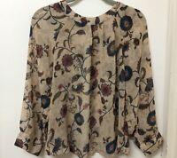 PAPER SCISSORS Ladies Blouse Size 12 Top Jacket Floral Chiffon Style
