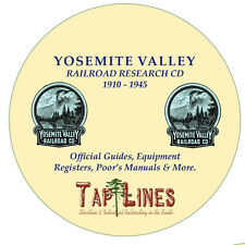 YOSEMITE VALLEY RAILWAY - OFFICIAL GUIDES, REGISTERS & RESEARCH SCANNED TO CD