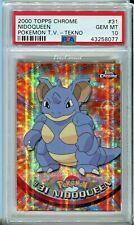 PSA 10 GEM MINT Pokemon Nidoqueen 2000 Topps Chrome Series 1 #31 TEKNO
