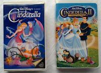 Cinderella + Cinderella II: Dreams Come True Walt Disney VHS Lot Animated Movie