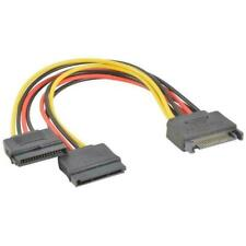SATA Power 15-pin Y-Splitter Cables Adapter Male to Female For HDD Drive S2R7