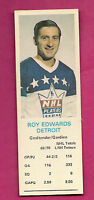 RARE 1970-71  RED WINGS ROY EDWARDS GOALIE DADS COOKIE CARD (INV#2696)