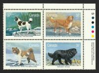 DOGS = Canada 1988 #1220a MNH Se-tenant UR PB - All Different STAMPS
