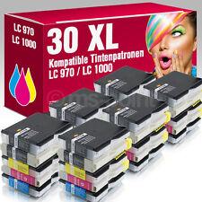 30 Druckerpatronen für Brother DCP 357 C LC970 LC1000