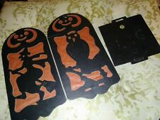 1 New Vintage Halloween Diecut & Crepe Paper Lantern Made In Usa 1920s Rare Find