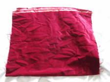 Fabric Deep Red 100% Cotton Velvet