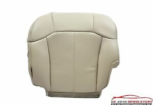 2002 Cadillac Escalade Passenger Bottom PERFORATED Leather Seat Cover Shale TAN