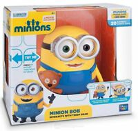 NEW Minions TALKING Minion BOB Figure & Teddy Bear INTERACTIVE Toy Despicable Me