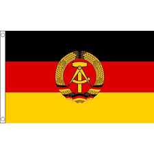 East Germany Flag 5 x 3 FT - 100% Polyester With Eyelets - Soviet Communist