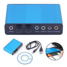 USB 7.1 Channel 5.1 channel External Optical Audio Sound Card SPDIF Laptop PC