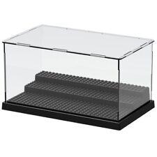 Lego 3 Steps Minifigure Display Case Dustproof ShowCase Black Base