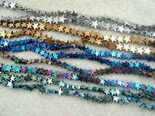 Titanium Hematite Gemstones Star Loose Beads loose beads 6mm 15''