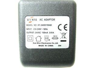150ma 24v Socket AC-AC (AC Output) Power Adaptor/Supply/Charger (0.15a, 3.6va)