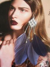 Hook Natural Crystal Costume Earrings