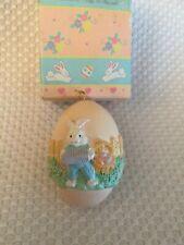 Vintage Springtime egg Scene Egg Ornament Peach Color Easter Spring