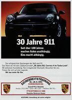 Porsche 911 30 Jahre Carrera 4 Turbo-Look Prospekt 1993 Autoprospekt brochure