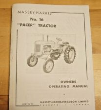 Massey Harris Pacer No 16 Tractor Owner's Operator's Manual MH Continental