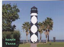 "*Postcard-""Black & White Light Tower ""  ...at Kemah, Texas (B489)"