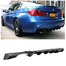For 12-14 BMW F30 3-Series M Performance Style Rear Single Tip Diffuser Spoiler