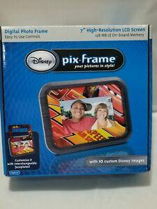 "Disney Pix Frame Digital Photo Frame 7"" LCD 128 mb Memory Custom Disney Images"