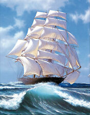 Sailboat and Sea Lenticular 3D Picture Boat Poster Painting Home Wall Art Decor