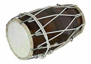 Handmade Musical Seil Indisch Dholak Traditionell Musikinstrument Mit Abdeckung