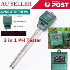 3 in 1 Ph Tester Soil Water Moisture Light Test Meter for Garden Plant Flower GT