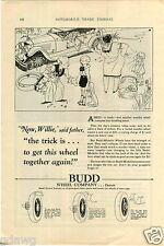 1927 PAPER AD Budd Car Auto Automobile Wheel Co Company