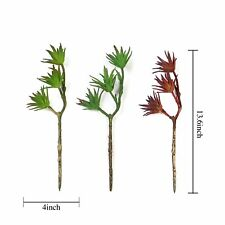 """Set of 3 13"""" tall Faux Succulent Picks Sprays Stems Wedding Party Decorations"""