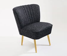 Cocktailsessel 50er Jahre Retrosessel Beine hell o.dunkel -schwarz meliert  NEU