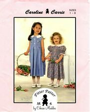 DRESS GIRLS SMOCK UNCIRCULATED SIMPLICITY #7367 HAT /& PANTS PATTERN 3-8FF