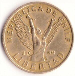 """10 Pesos 1984 Chile Coin KM#218.1 - """"Chilena"""""""