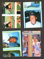 4 George Brett ERROR MISCUT Cards Topps FLEER  L#34