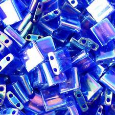 Cobalt Blue AB Miyuki Tila Beads 7.2gm 2 Hole Seed Bead 5x5mm