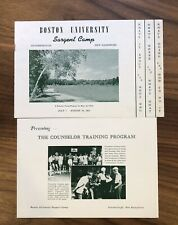 MA - Boston University - Sargent Camp - BOOKLET - BROCHURE - LOT - 1952
