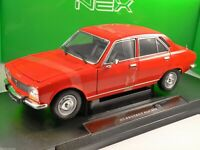 1975 PEUGEOT 504 in Red 1/18 scale model by WELLY