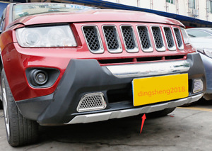 Front+Rear Bumper Guards Board Skid Plate Protector Bar Fit For Jeep Compass