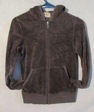 W5159 Juicy Couture Child/Kids Med Brown Long Sleeve Zip Up Hoodie