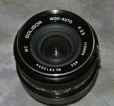 28mm f2.8 Lens w/Caps Canon FD Mount  By Soligor Excellent Cond,Made in Japan