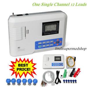 CONTEC Portable ECG Machine EKG Monitor electrocardiograph Free Printer CE FDA