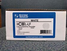 Low Frequency Fire Alarm Horn, 24 Volt, White, Ceiling, System Sensor #HCWL-LF
