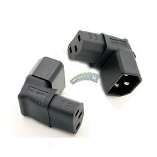 New IEC C14 Male to C13 Female Power Adapter Plug UP 90° Angled Supplied for TV