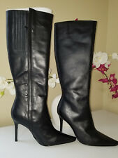 COLIN STUART Womens Black Leather Zip Up Knee High Tall Boots Sz. 8,5 M
