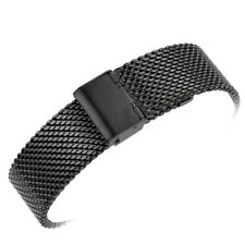 MILANESE SHARK MESH Correa Acero Inoxydable Stainless Negra 22mm 22 mm Ajustable