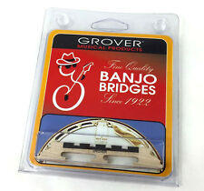 "Grover #90 Acousticraft™ Tenor 4-string Banjo Bridge 3-Legged 1/2"" Tall GB-90"