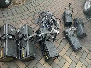6x Vintage theatre strand lights untested with leads  Cantata