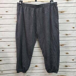 New Foundry Mens Jogger Pants Gray Heather Drawstring 4XL Big Pocket