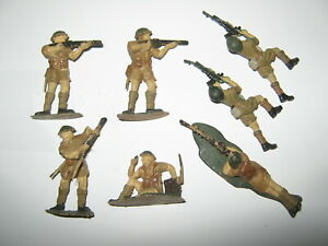 Airfix / Timpo British soldiers 7 in 5 poses in very condition 1/32 scale