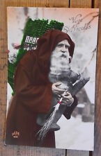 Early 1900's France Tinted Real Photo Postcard of Father Chirstmas