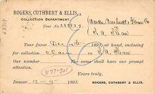 Denver~Rogers Cuthbert Ellis Law Firm~Warder Bushnell Glessner~Farm Eqpmntt 1893